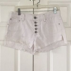 Free People hirise denim jean shorts size 25